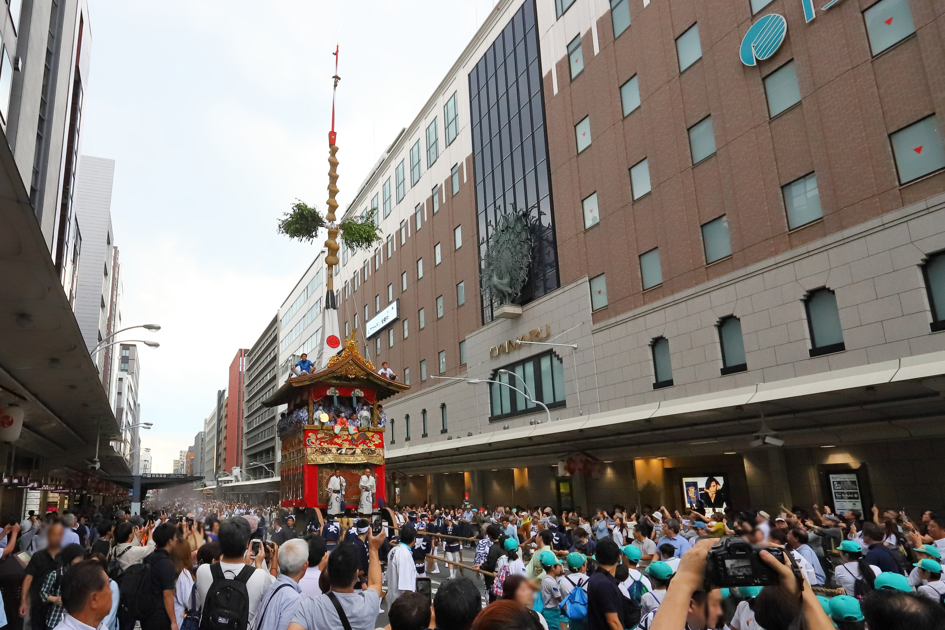 祇園祭2019前祭 鉾曳初め(長刀鉾)(京都)